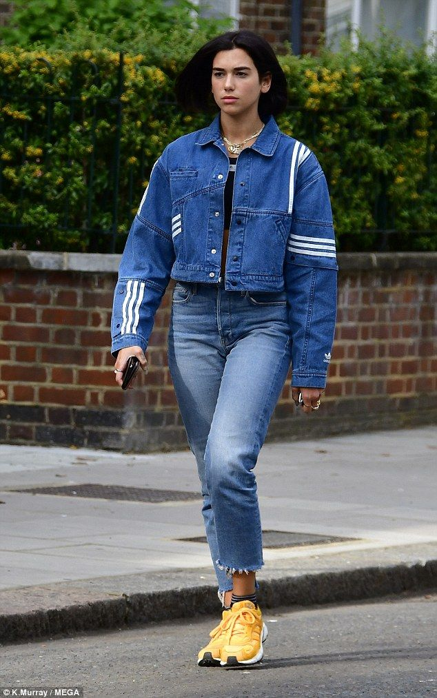 Dua Lipa rocks edgy double denim as she steps out in London | Double denim,  Denim, Denim fashion