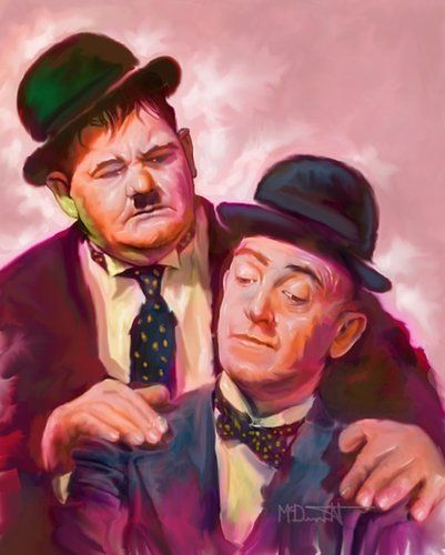 Famous+Comedians | Laurel and Hardy Famous Comedian By McDermott | Famous People Cartoon ...