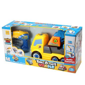 NINIYA One Set Kid Toy Cement Mixer Trailer Excavator Fire engines Ambulance Transport Vehicles Car Sale - Banggood.com
