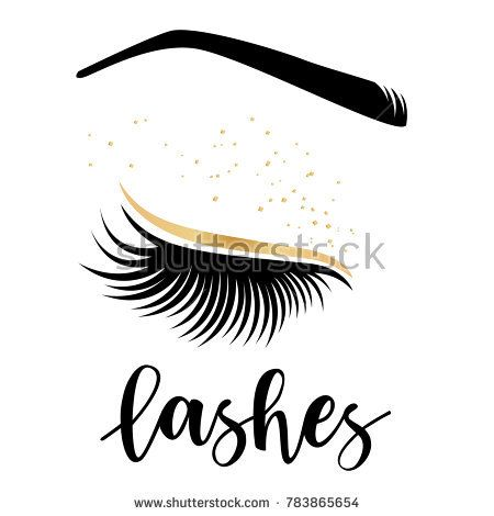6ee53b595f4 Vector illustration of lashes. For beauty salon, lash extensions maker, brow  master.