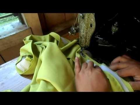 Cara pasang ban pinggang Rok karet samping - YouTube