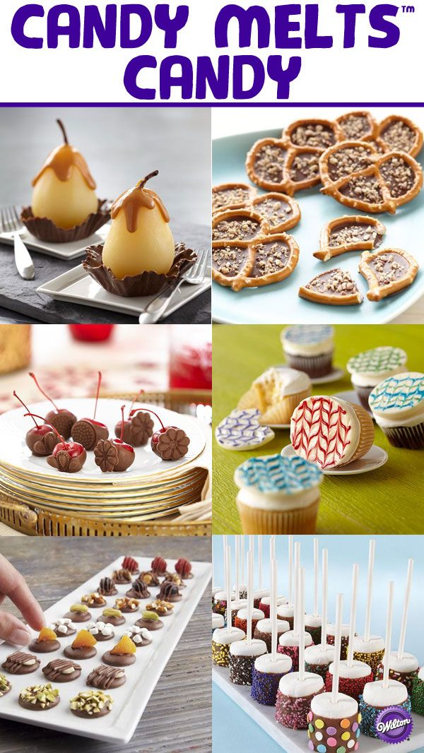 Candy Melts are so versatile they can be used in recipes or as decoration. The Wilton Candy Melts board has a round-up of different ways to decorate, dip and drizzle your sweet treats!