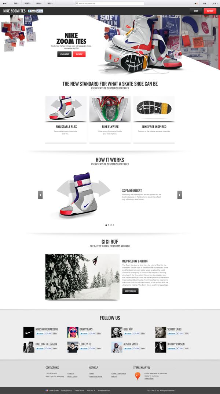 Nike.com on The Digital Age Served