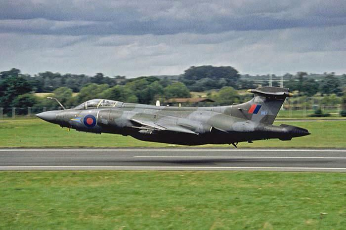 Blackburn/Hawker Siddeley Buccaneer - Royal Navy carrier borne attack aircraft, designed by the Blackburn group in the 1950s. The Blackburn group was incorporated into the Hawker Siddeley corporation.