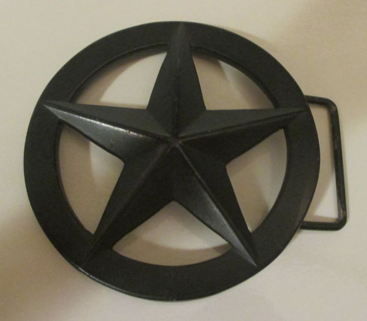 Belt Buckle--Western-- Texas  Lone Star- Metal  --for Men/ Women--Large Black Texas Style Star Buckle by Riverripples on Etsy