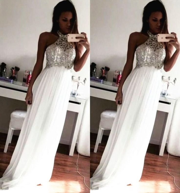 Cheap 2015 Prom Dresses Crystal Beading Formal Evening Gowns Sheath Halter Neck Sleeveless Floor Length Chiffon 2016 Cheap Plus Size Formal Prom Dresses On Sale Prom Dresses Under 50 From Newfashion2014, $128.8| Dhgate.Com