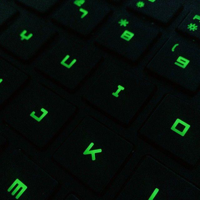 Razer Blade Keyboard. Taken by @skvllsTV (Instagram) #Razer #RazerBlade #Keyboard