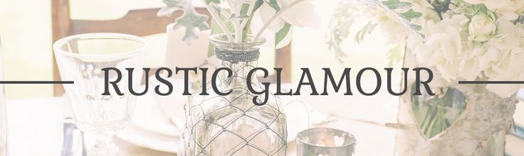 rustic glamour wedding decorations for sale uk
