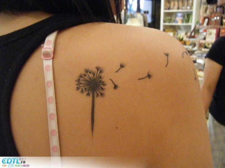 Tatouage-fleur pissenlit