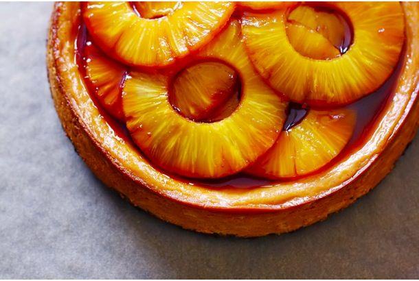 うまそなレシピ見つけたよ!「キャラメル パイナップル チーズケーキ」 | roomie(ルーミー)