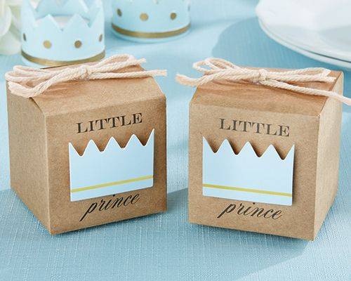 Little Prince Kraft Favor Box (Set Of 24 - as low as $0.70 each!) Box is 2x2x2, perfect for an oreo cookie or french macaron!