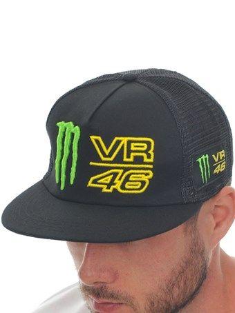 Valentino Rossi Monster Black VR46 Visor Trucker Cap | Valentino Rossi Monster | FreestyleXtreme