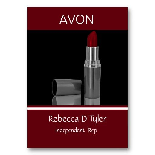 17 best avon business cards templates images on pinterest makeup artist business cards reheart Gallery