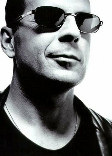 Photo Noir et Blanc Bruce Willis