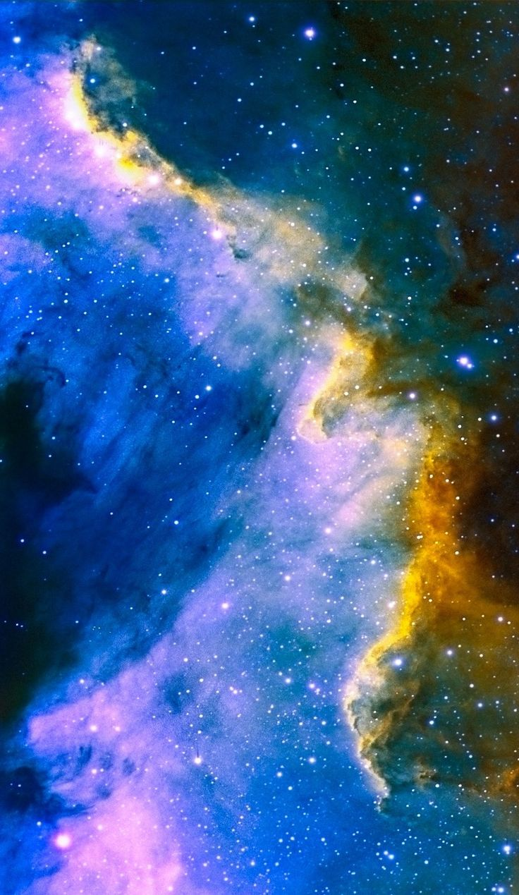NGC 7000 Cygnus Wall Hubble Palette Credit: NASA/Hubble, color/effects thedemon-hauntedworld