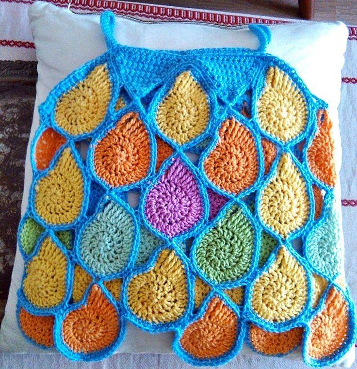 nyari-top-horgolt-csigakbol crochet spiral, snail