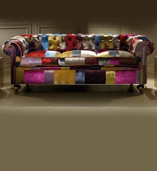 Diva Collection Luxury Designer Patchwork Sofa