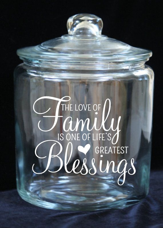 Family Blessing/Gratitude Jar 1 Gallon Glass Cookie by JoyousDays