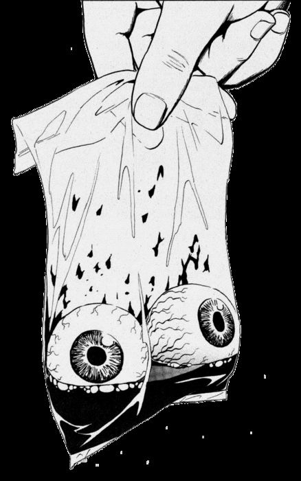 - Bag of Eyeballs in Black and white. #artwork #blackandwhite #eyeballs http://www.pinterest.com/TheHitman14/black-and-white/