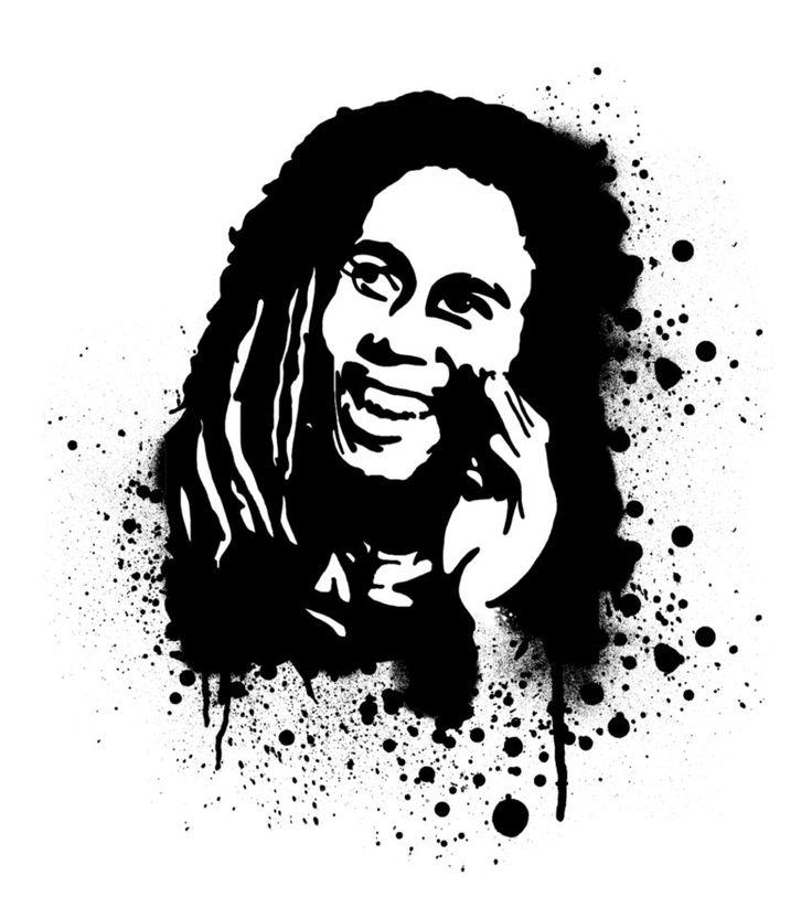 stencil_Bob Marley | j...