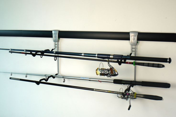 Now it's so easy to organise all those fishing rods: http://www.mygarage.co.za/pGSH23/Fishing-Rod-Hook.aspx