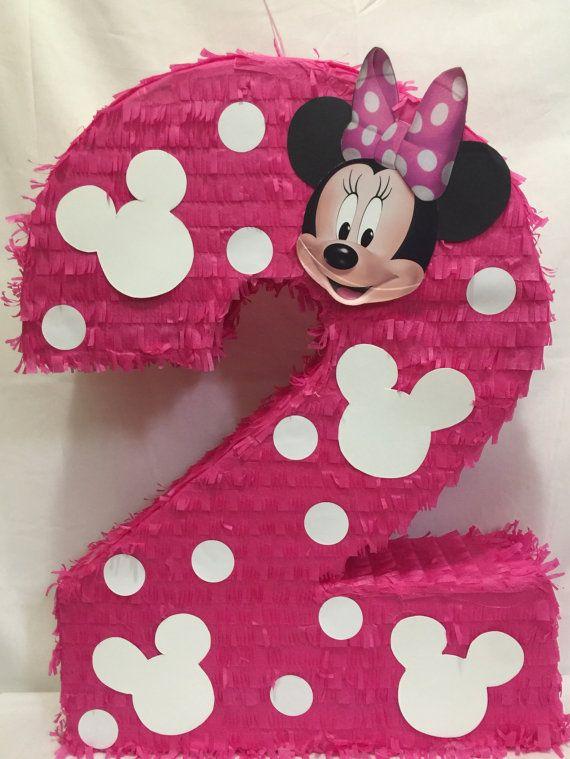 Piñata de Minnie Mouse gran número 2