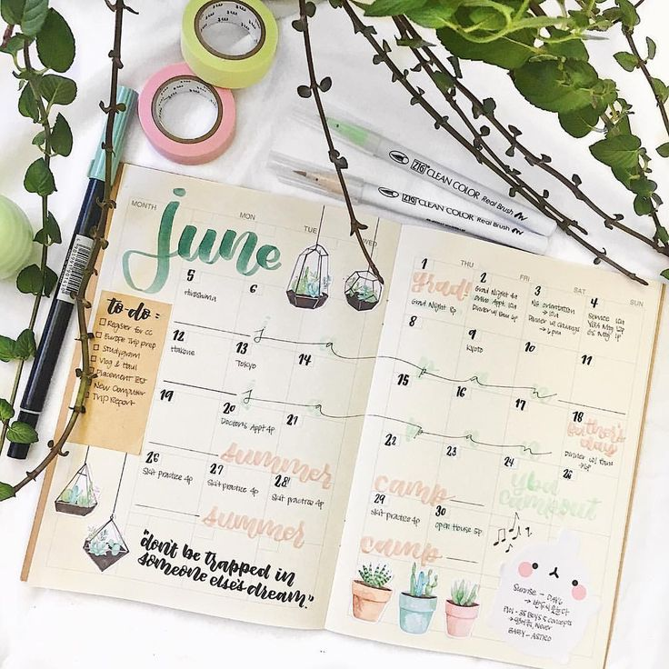 "83 Likes, 2 Comments - erin ✨ (@eristudy) on Instagram: ""my june monthly spread !! whoops can't think of a good caption but I'm taking my time posting so…"""