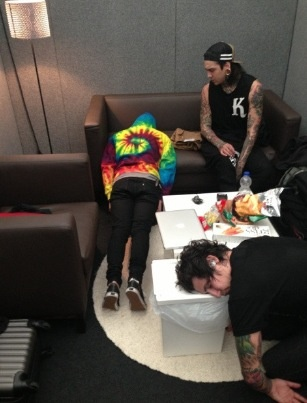 "Tony is like "" Vic, what are you doing?"" Look at jamie sleeping"