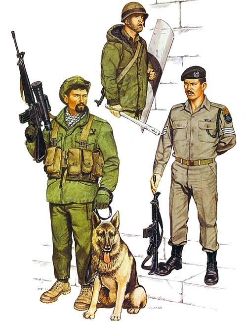 Bedouin tracker, Jordan Valley, 1980  • Border Guard, Hebron 1980  • Sgt. Border Guards, 1977