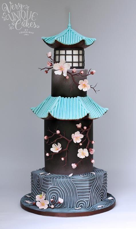Sakura+Zen+by+http://www.veryuniquecakes.com