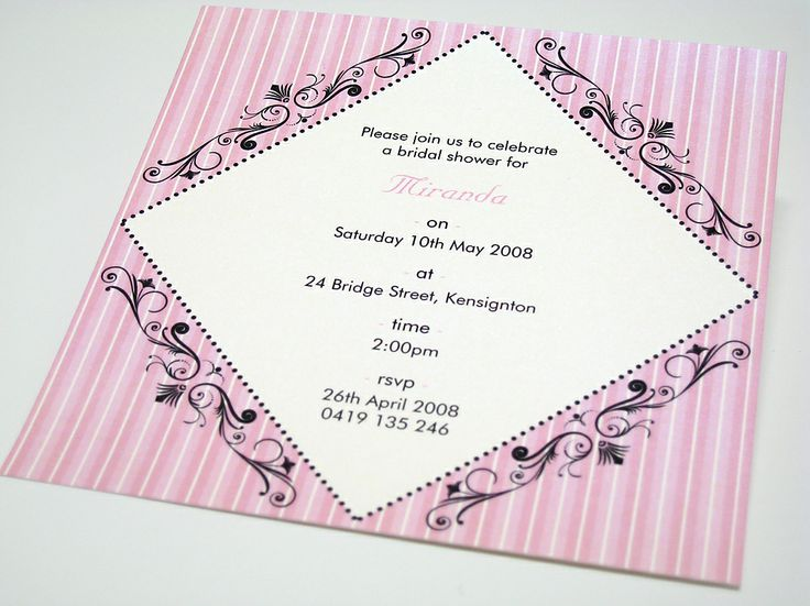 A Bridal Shower Invitation!!!