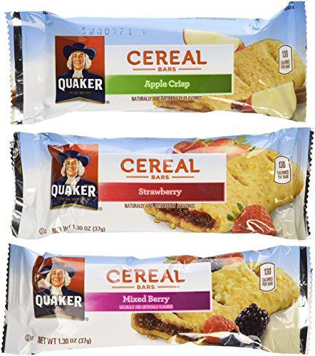 Quaker Cereal Bars Variety Pack 48 Count,1.3 OZ (37g) each - http://sleepychef.com/quaker-cereal-bars-variety-pack-48-count1-3-oz-37g-each/