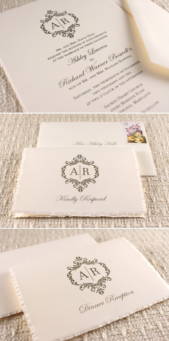 Gorgeous Wedding stationary. Create your own with #celebratewithavery to kick-off your special day. Personalise your invitations with #Avery