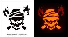 10 Free Printable Scary Pumpkin Carving Patterns, Stencils