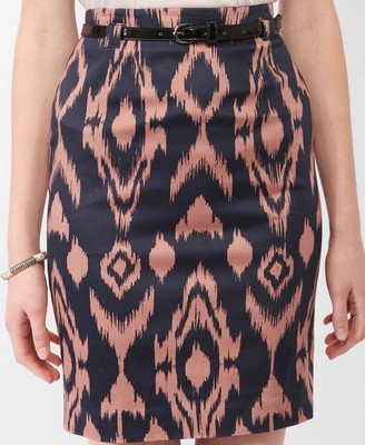 Ikat Pencil Skirt
