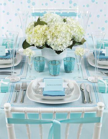 水色のテーブルコーディネート - Light blue table decoration