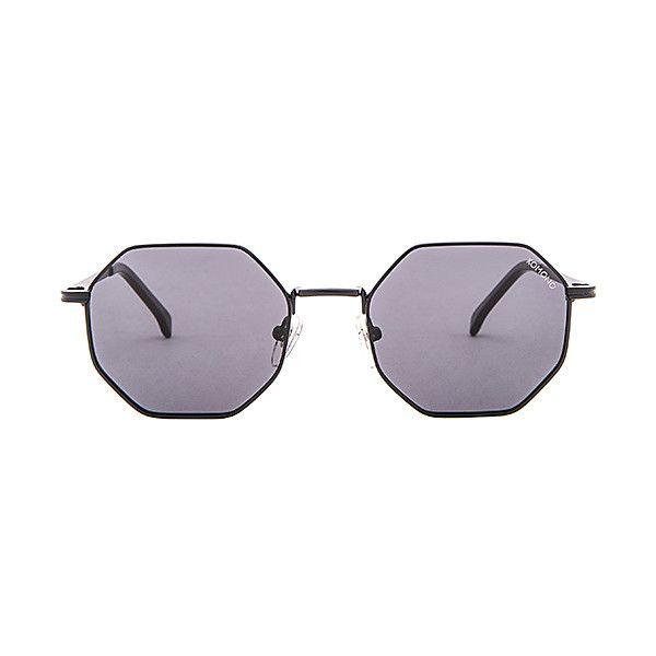 Komono CRAFTED Monroe (4,275 THB) ❤ liked on Polyvore featuring accessories, eyewear, sunglasses, metal-frame sunglasses, lens glasses, komono sunglasses, matte lens sunglasses and scratch resistant sunglasses