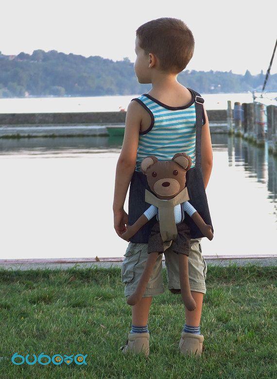 Teddy Bear Fabric Doll Stuffed Animal With Removable by buboxa