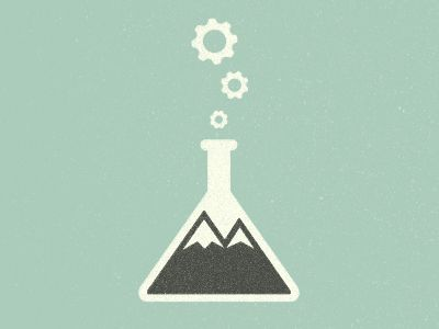 Awesome logo design mixing science and nature by Dustin Wallace. Source: Dribbble.com