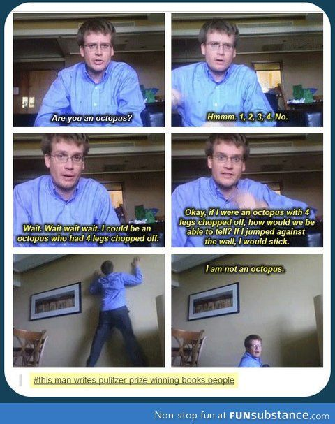 I'm starting to think i should make a board just about john green coz he's so hilarious