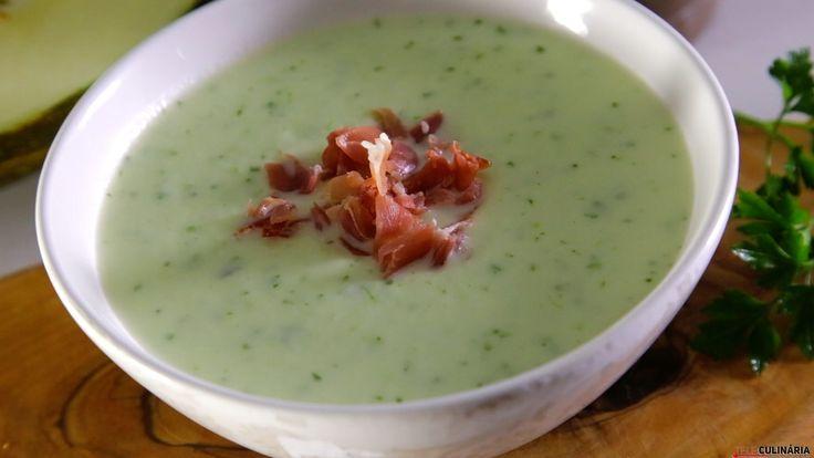 Receita de Sopa de melão com presunto. Descubra como cozinhar Sopa de melão com presunto de maneira prática e deliciosa!