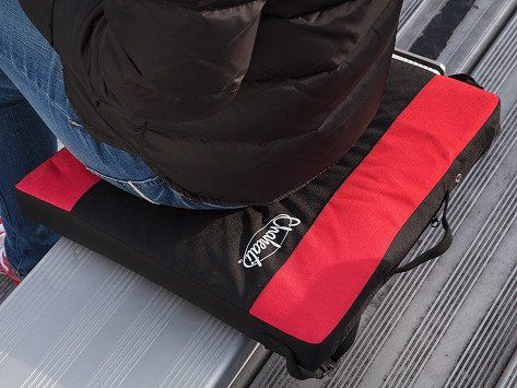 Stay outdoors longer with the Chaheati Stadium Seat Cushion. It's cordless, lightweight, and portable so you can take it anywhere. The rechargeable heating system provides up to six hours of heat so you can stay comfy in the cold.