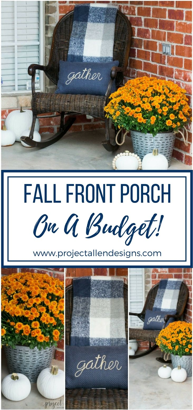 Fall decorating on a budget - Budget Friendly Fall Front Porch