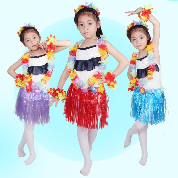 30CM grass skirt package 5 sets wedding costume dance party activities Hawaiian grass skirts performing props free shipping