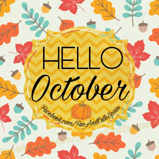 Hola Octubre. Hello October!  ➡ Sígueme en YouTube https://www.youtube.com/channel/UC_tmePzANQVtCMWUzinpEdA  - También puedes visitarme en Instagram ➡  www.instagram.com/funandcutespain/ -  - #frases #hola #octubre #bienvenido #meses #otoño #halloween #months #hello #october #hello