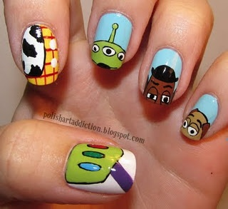 Toy Story nails: Nailart, Toy Story Nails, Beautiful, Disney Nails, Toys Stories Nails, Nails Art Design, Nail Art, Toystori, Nails Designs