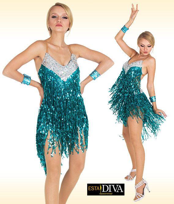 Vestito da ballo con frange ai