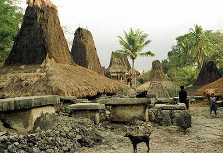 Megalithic village in Sumba, Indonesia