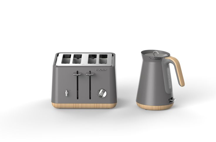 The painted stainless steel finish in Titanium is one of your colour options for the efficient Aspect kettle & toaster. Plus, the wooden trims make it extra chic!