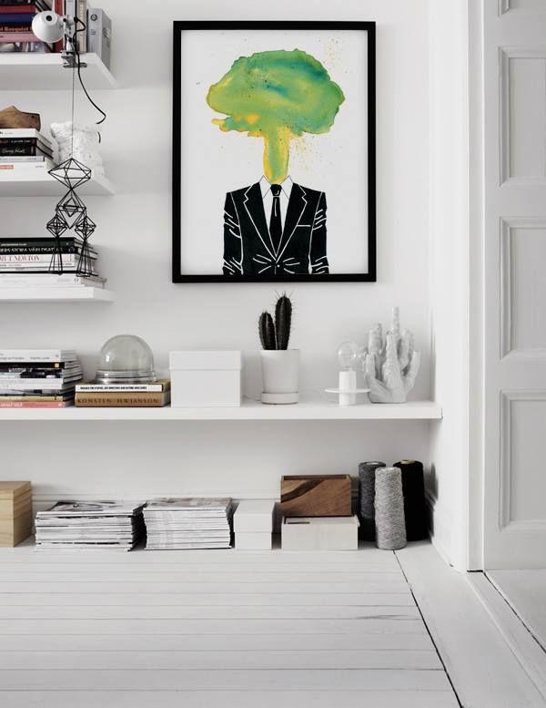 """Lamina en foto """"Beautiful Man I"""" de Don Pedro, top elegancia en tinta y acuarela www.latiendadeldesvan.es"""